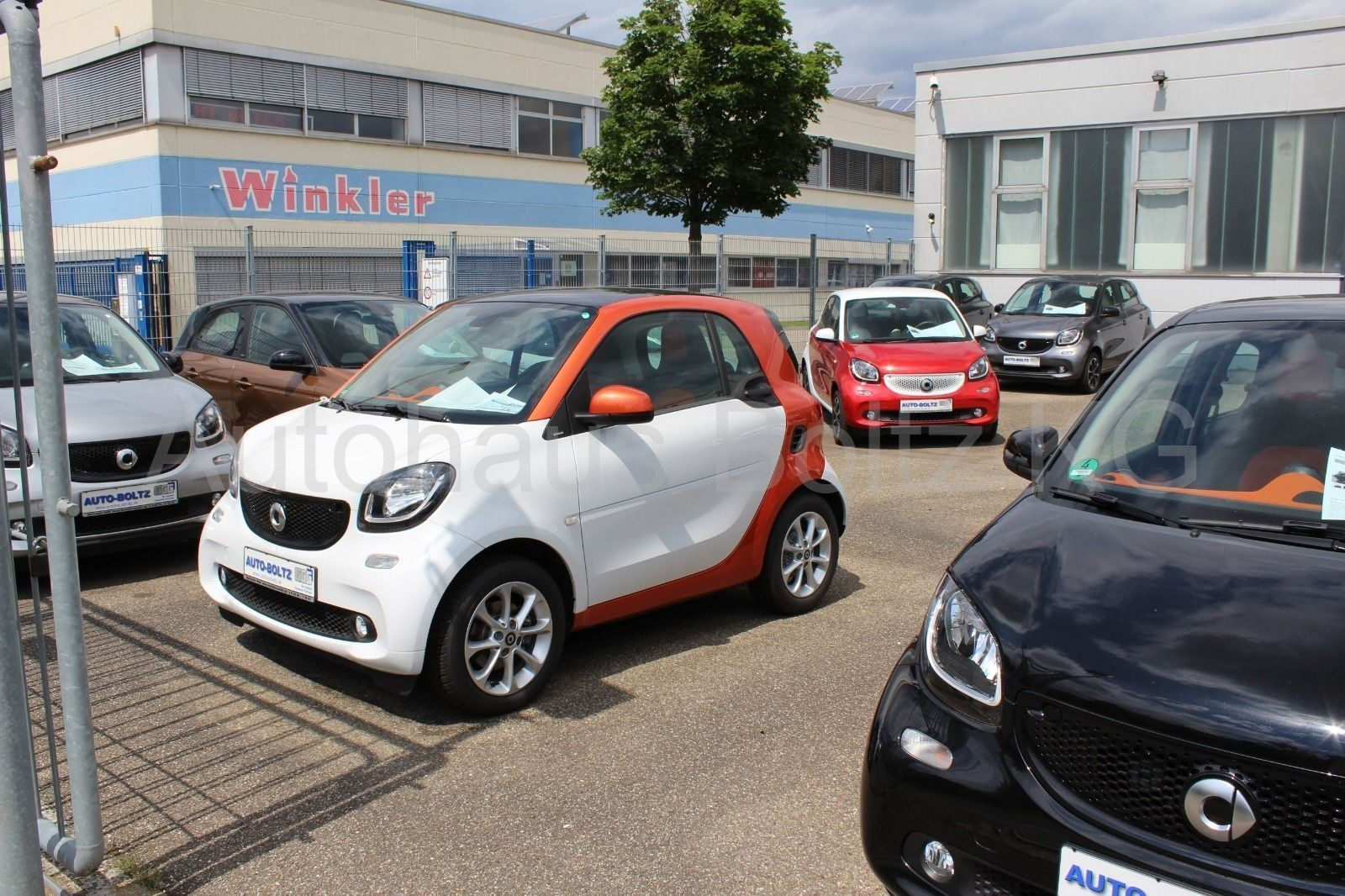 SMART forfour 66 kW passion Spur Abstand Ambiente