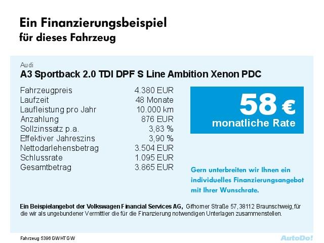 AUDI A3 Sportback 2.0 TDI DPF S Line Ambition Xenon