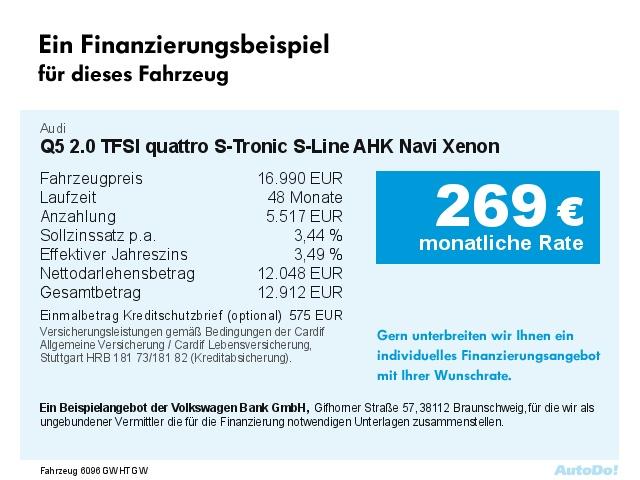 AUDI Q5 2.0 TFSI quattro S-Tronic S-Line AHK Navi