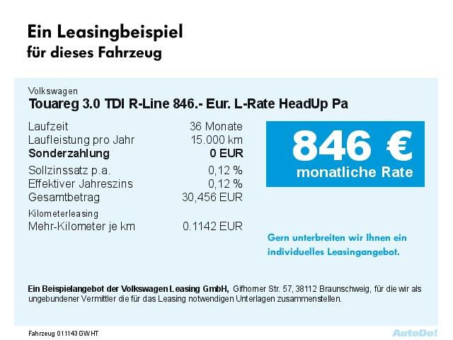 VW Touareg 3.0 TDI R-Line 777.- Eur. L-Rate HeadUp