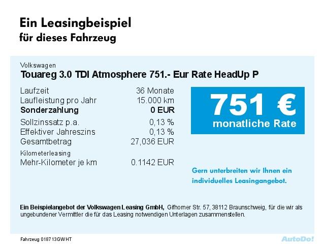 VW Touareg 3.0 TDI Atmosphere 690.- Eur Rate HeadUp