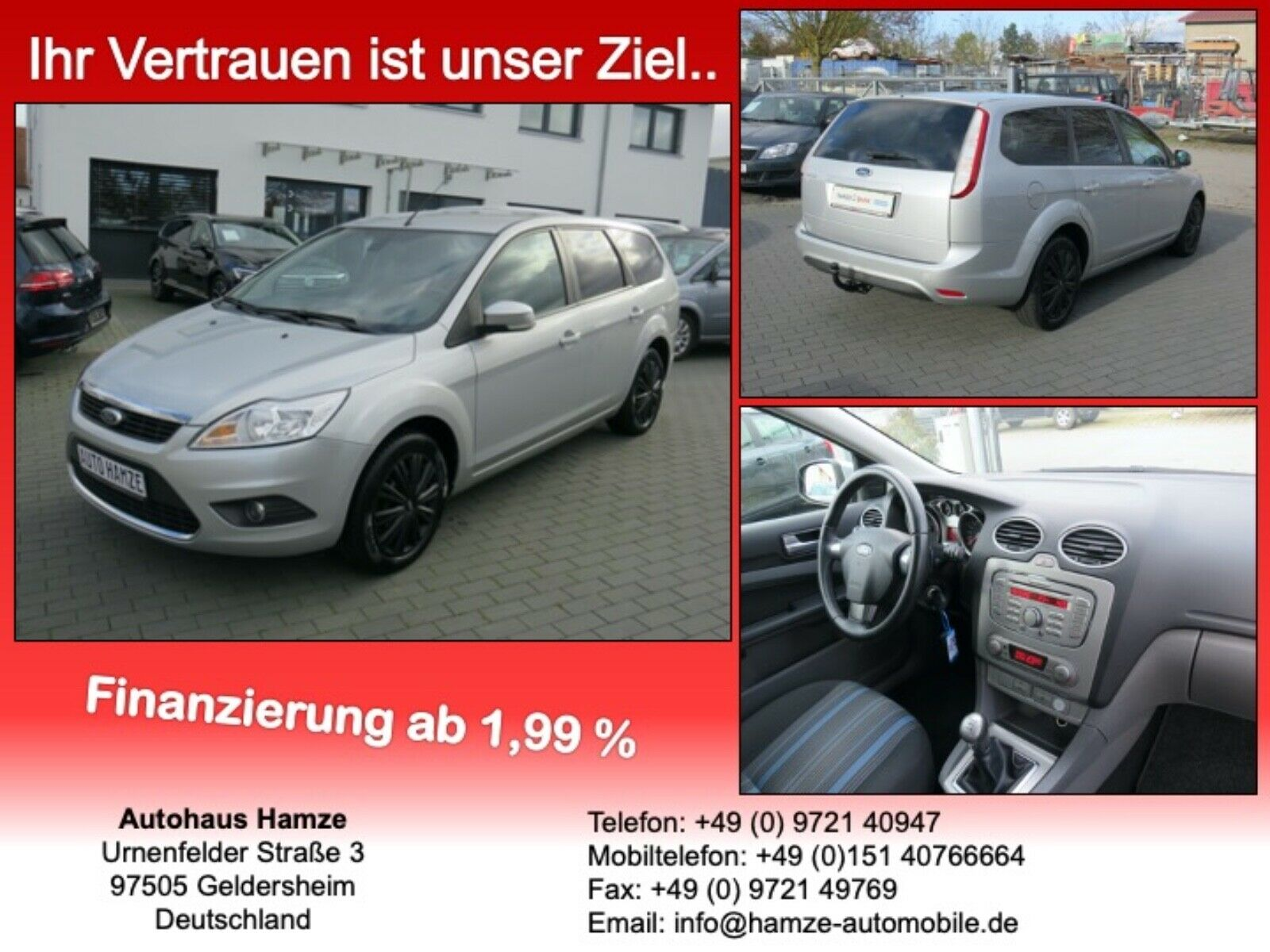 FORD Focus Turnier Style Limited Edition/AHK/TOP!