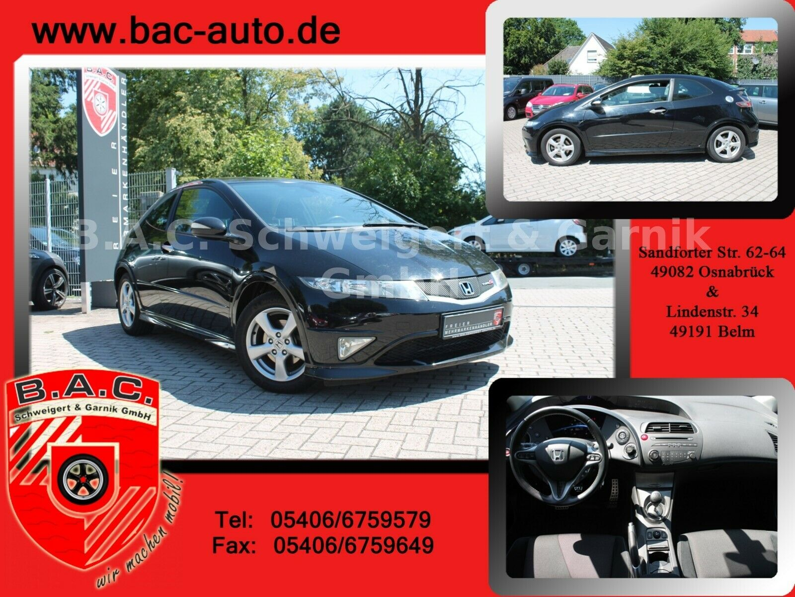 HONDA Civic Lim.3 1.4 Type S 1-Hand wie 80Tkm Top Zust