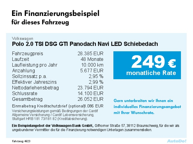 VW Polo 2.0 TSI DSG GTI Panodach Navi LED Bluetooth